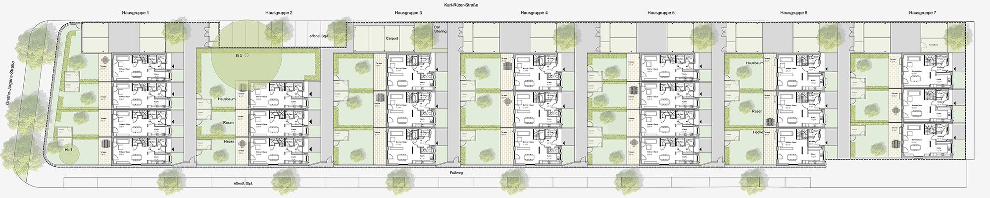 banner-stadthaeuser-lister-blick-wohnanlage-plan