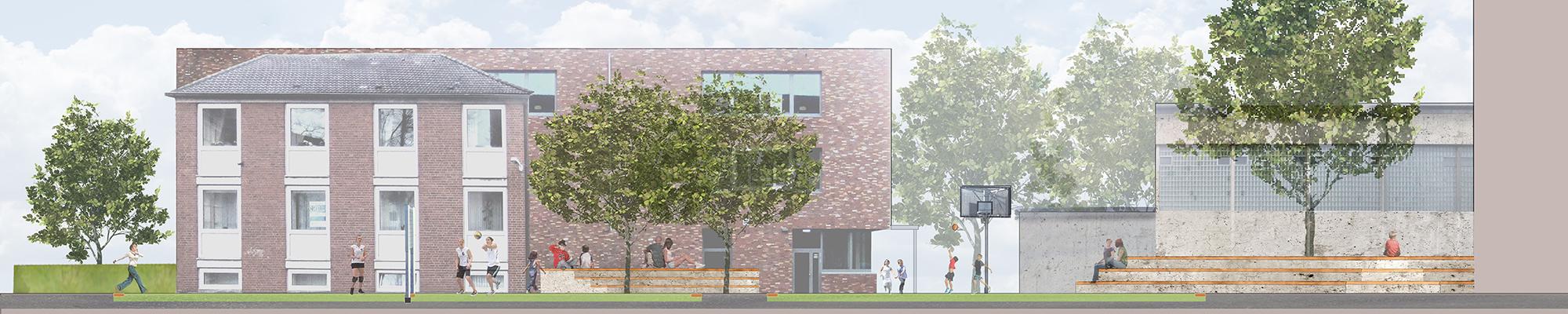 banner-wettbewerb-schule-bremerhaven-sportplatz-amphitheater