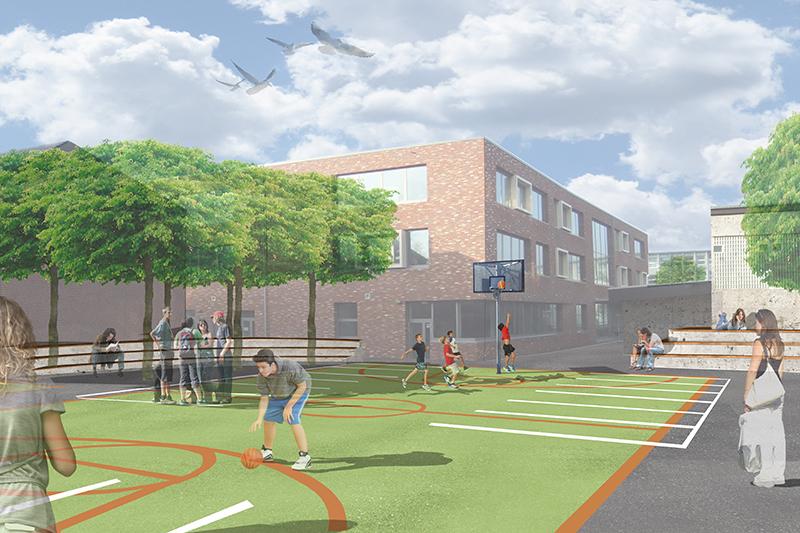 feature-wettbewerb-schule-bremerhaven-perspektive-sportplatz-basketball-platz-fussball